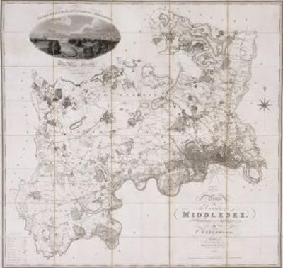Map of the County of Middlesex, Published 1819
