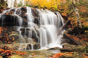 Smugglers' Notch Waterfall Landscape by C.H.Diegel Photography