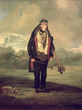 Caddie Willie at Bruntsfield, Edinburgh, 1824 by C.H Robertson