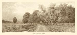 The Country Road in Sepia by C. Harry Eaton