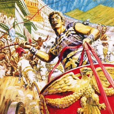 Ben-Hur Racing a Chariot in Ancient Rome by C.l. Doughty