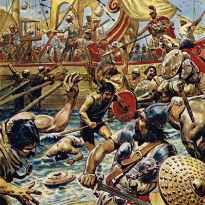 Caesar Ordered His Boats in Close and Laid Down a Bombardment of Arrows by C.l. Doughty