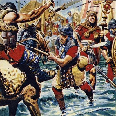 Fired Up by the Bravery of the Standard-Bearer, the Other Roman Legions Gained Courage