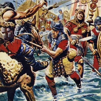 Fired Up by the Bravery of the Standard-Bearer, the Other Roman Legions Gained Courage by C.l. Doughty