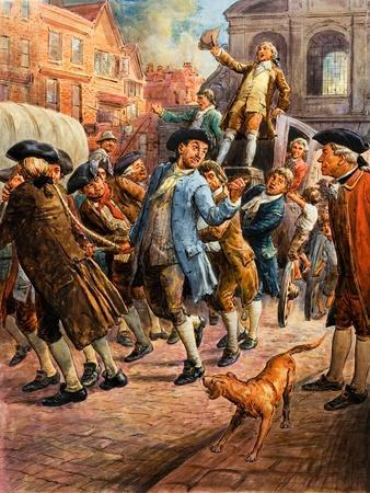 John Wilkes, Seen Here Returning from Paris, Being Saved from Arrest by a Mob of Citizens