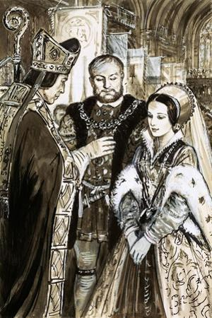 Marriage of Henry VIII and Anne Boleyn by C.l. Doughty