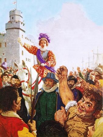Queen Elizabeth I Making Her Armada Speech by C.l. Doughty