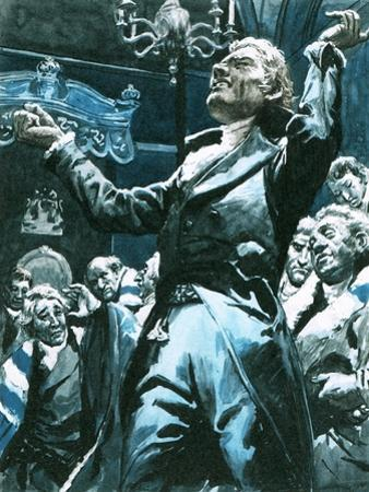 William Wilberforce Speaking Out Againstslavery in the House of Lords by C.l. Doughty