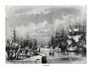 Le Havre, Normandy, Northern France, 1879 by C Laplante