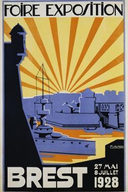 Foire Exposition Brest Poster by C. Lautrou