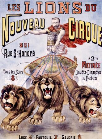 Les Lions du Nouveau Cirque by C. Levy