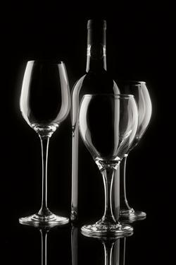 Wine Bottle and Glasses by C. McNemar
