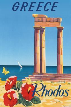 Greece - Rhodes - Monte Smith - Temple of Apollo (Acropolis of Rhodes) by C. Neuria