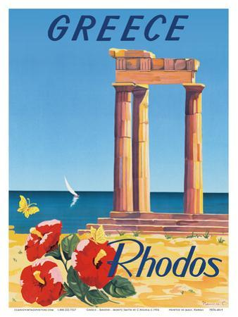 Greece - Rhodes - Monte Smith - Temple of Apollo (Acropolis of Rhodes)