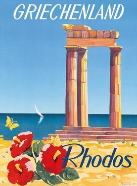 Rhodos: Griechenland, Greece c.1954 by C. Neuria