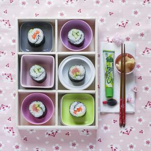 Sushi Box on Wood by C. Nidhoff-Lang
