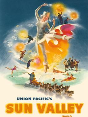 Sun Valley Idaho - Union Pacific Railroad by C. Peet