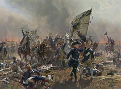 Battle of Zorndorf Friedrich Der Grosse Leads His Soldiers by C. Rochling