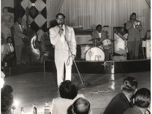Cab Calloway Performing at the Clover Club, C.1950