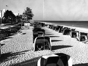 Cabanas on a Fort Lauderdale Beach, 1954