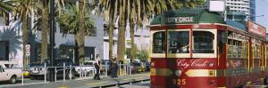Cable Car Along a Road, City Circle Tram, Harbor Esplanade, Melbourne, Victoria, Australia