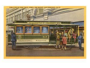 Cable Car on Turntable, San Francisco, California