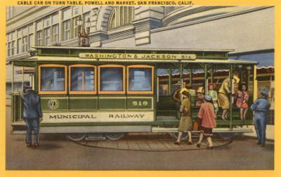 Cable Car on Turntable, San Francisco, California