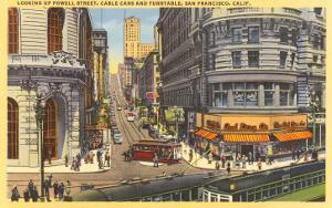 Cable Cars, Powell Street, San Francisco, California