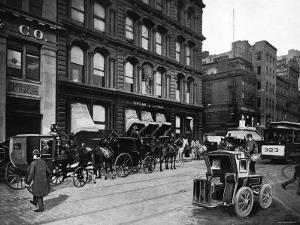 Cabs Outside of Tiffany and Co., New York City