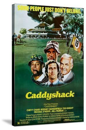 Caddyshack Movie Chevy Chase Bill Murray Group Vintage Poster Print