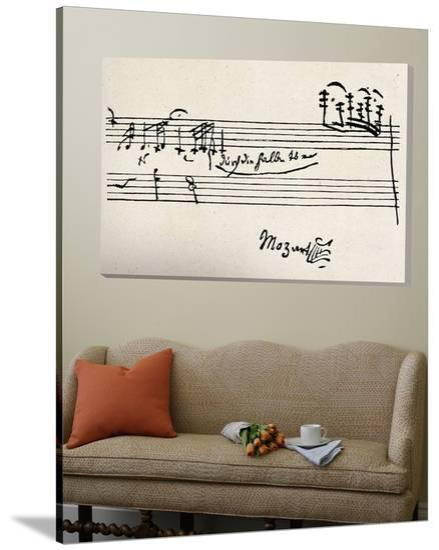 Cadenza, with Mozarts Signature--Loft Art