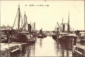 Caen Calvados, Le Port, Hafenpartie, Schiffe Garant