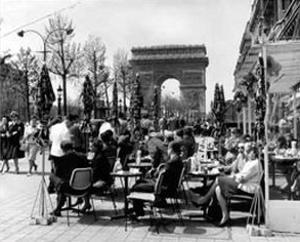 Café on the Champs Elysees, Paris, 1960