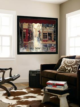 Café Window Huge Mural Art Print Poster