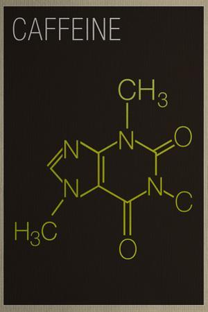 Caffeine Molecule Plastic Sign