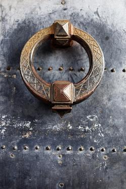 Door Knocker Detail of Door Located in the Castel Sant Angelo, Ponte, Rome, Lazio, Italy. by Cahir Davitt