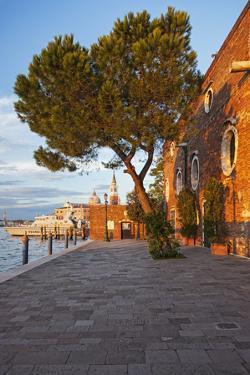 Facade Detail of the 5 Star Hotel Cipriani, at Sunset, Giudecca, Venice, Veneto, Italy. by Cahir Davitt