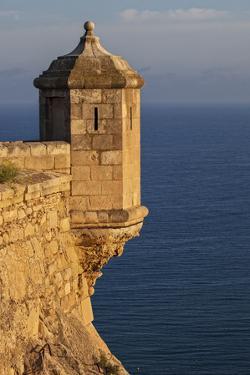 Lookout Tower of Santa Barbara Castel Overlooking the Bay of Alicante, Costa Brava, Alicante by Cahir Davitt