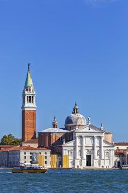San Giorgio Maggiore and Campanile, Viewed from Calle Vallaresso, San Marco, Venice, Veneto, Italy. by Cahir Davitt