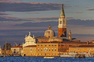 San Giorgio Maggiore at Sunset Viewed from Giudecca, Venice, Veneto, Italy. by Cahir Davitt