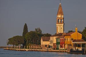 The Campanile Di Mazzorbo at Sunset on Isola Mazzorbo, Vencie, Veneto, Italy. by Cahir Davitt