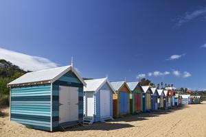 The Colourful Brighton Bathing Boxes Located on Middle Brighton Beach, Brighton, Melbourne by Cahir Davitt