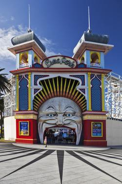 The Colourful Entrance to Luna Park, Saint Kilda, Melbourne, Victoria, Australia. by Cahir Davitt