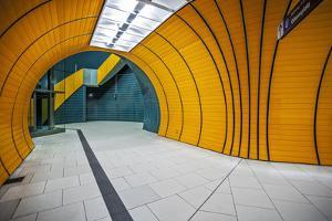 The Exit of the Odeanspaltz U-Bahn Station in Altstadt - Lehel, Munich, Bavaria, Germany. by Cahir Davitt