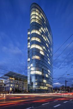 The Landmark Eliptical Commercial Office Building Gap at Graf Adolf Platz in Dusseldorf by Cahir Davitt