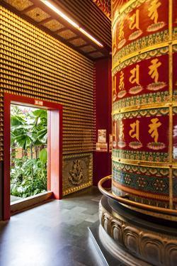 The Vairocana Bhudda Prayer Wheel Detail in Buddha Tooth Relic Temple and Museum, South Bridge Road by Cahir Davitt