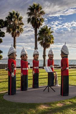 The Volunteer Rifle Band Statues in Steampacket Gardens, Geelong, Victoria, Australia. by Cahir Davitt