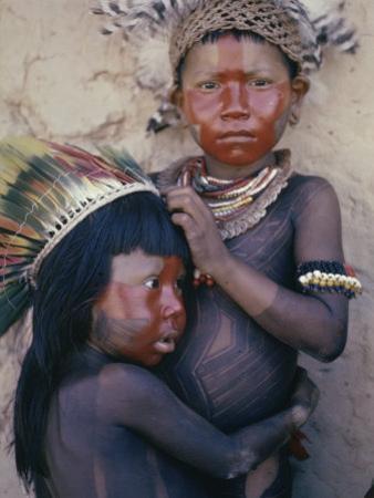 Caipo Indian Children, Xingu River, Brazil