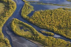 Aerial View of the Laitaure Delta, Sarek Np, Laponia World Heritage Site, Lapland, Sweden by Cairns