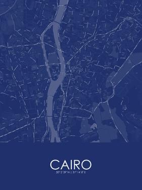 Cairo, Egypt Blue Map